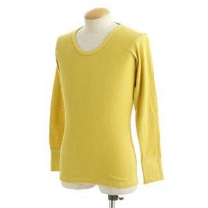 米軍ドッグタグ付Uネックシャツ長袖黄色.jpg